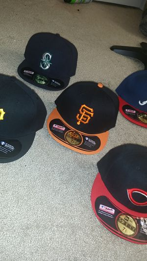 MLB fitted hats 7 1/2
