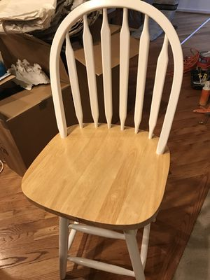 2 Stools with backrest wood