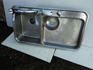 Sink 6 Of 6 Avail. SS. 5 Hole. 2 Basin. 36x20.
