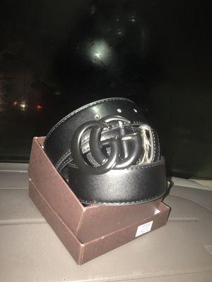 All black Gucci belt
