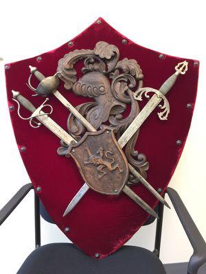 Hand-made Coat of Arms and Toledo Steel Swords