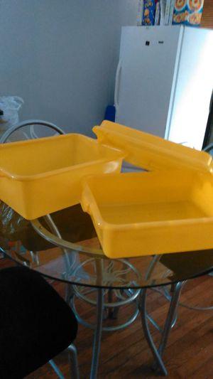 Food Storage Drain Box Set with Snap-On Lid