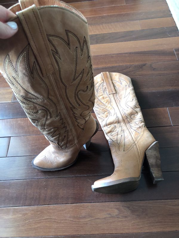 619e5236a1d Jessica Simpson Caralee Cowboy Boots New Luggage Combo – Fashionbarn shop –  1