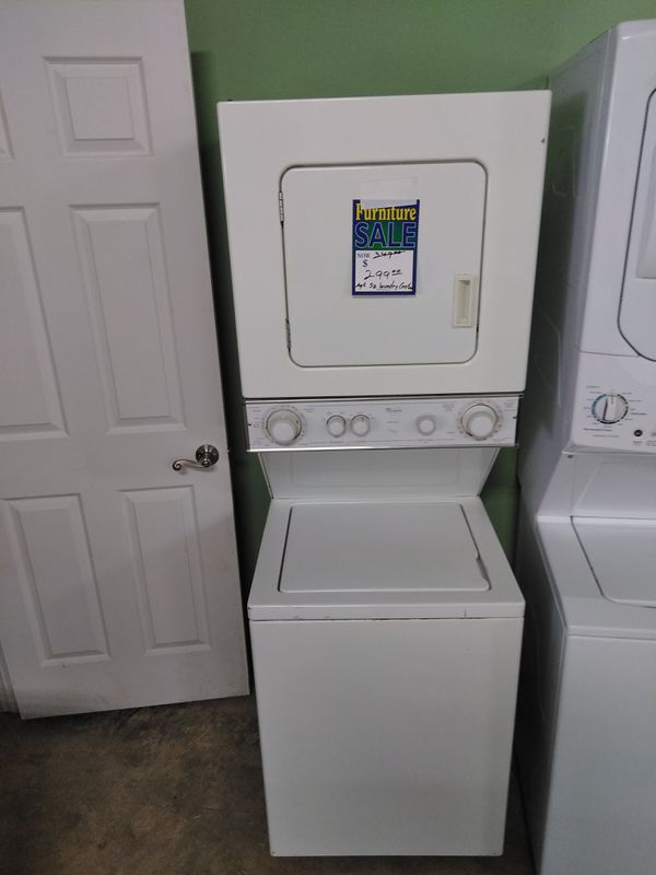Whirlpool apartment size stackable washer and dryer (Appliances ...