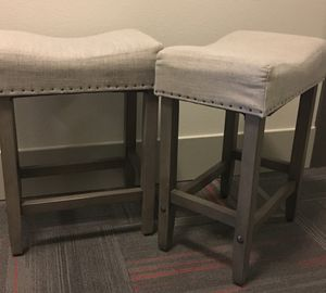 Two counter height bar stools