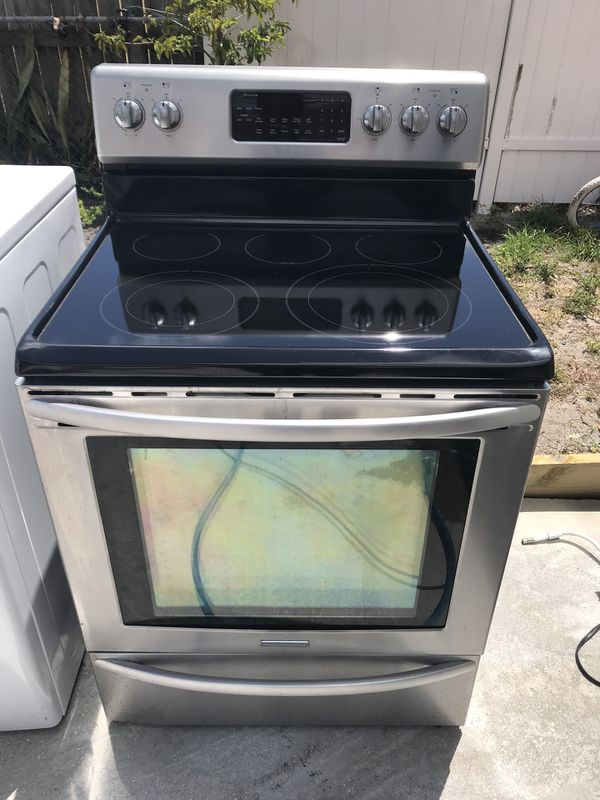 kitchen aid glass stove stainless steel everything working except
