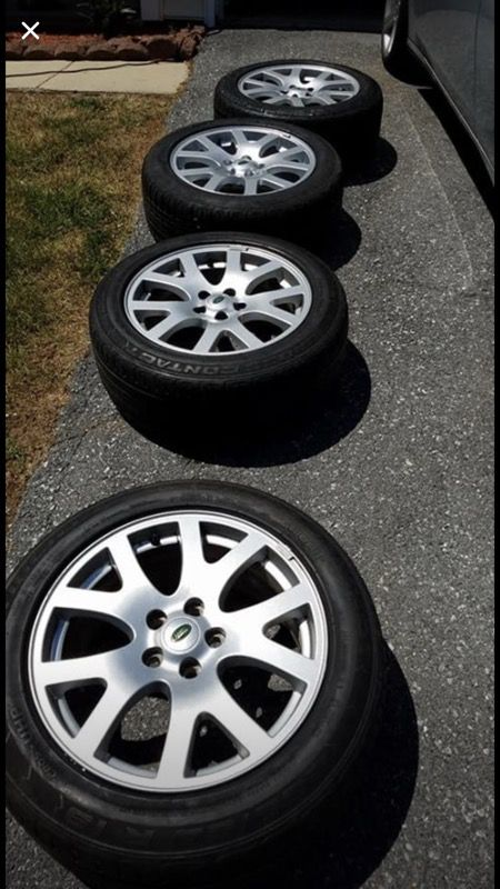 """Four Range Rover rims and tires size 19"""""""