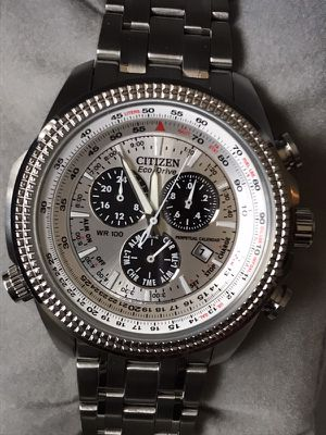 Beautiful CITIZEN Eco-Drive Stainless Steel SPORT Watch. Metrozoo Area.