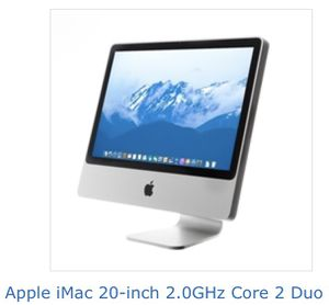 IMac W/ cordless mighty mouse and keyboard