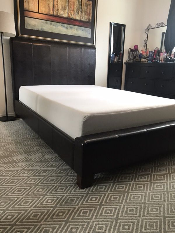 Excellent full platform bed frame with memory foam mattress ...