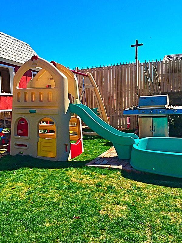 Step2 Playhouse Climber With Slide Swingset Extension Big Splash Center Pool Baby Kids