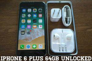 Iphone 6 Plus 64GB UNLOCKED w/ Apple Accessories (Space Gray)