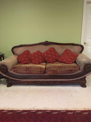 Traditional 2 wood sofa....