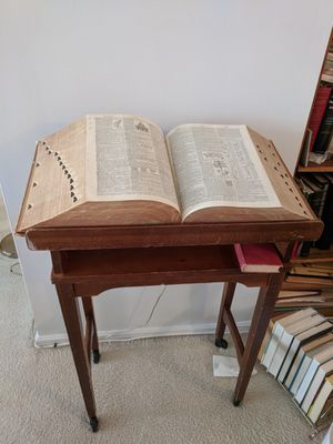 Vintage Dictionary and Stand