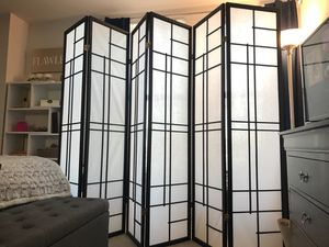 Two Handmade Wood and Rice Paper Screens - 6 Panels Each