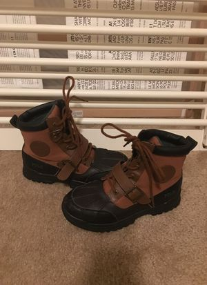Polo Ralph Lauren Boys Kids Coleby Boots!! Fresh size 5 is
