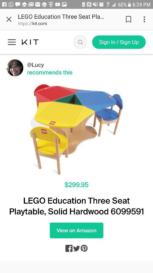 Lego three seat table- wood - no chairs (Furniture) in Lauderdale-by ...