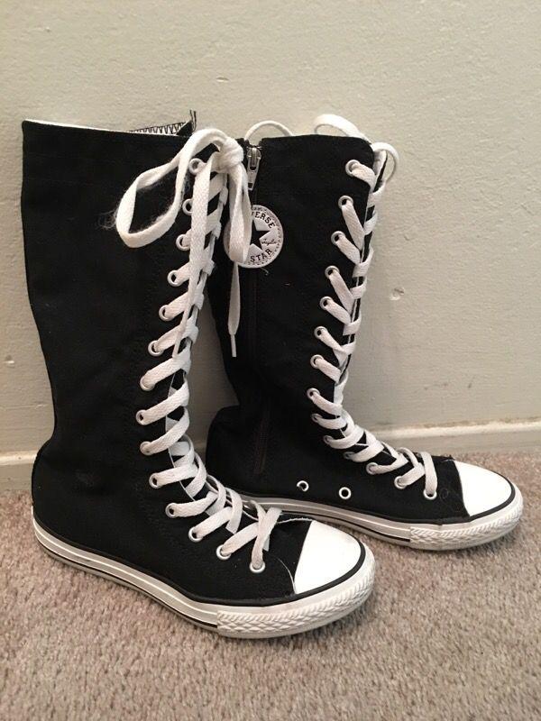 converse knee high boots. chuck taylor converse all-star knee-high (mid-calf) knee high boots k