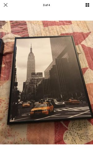 New York City pictures in frames