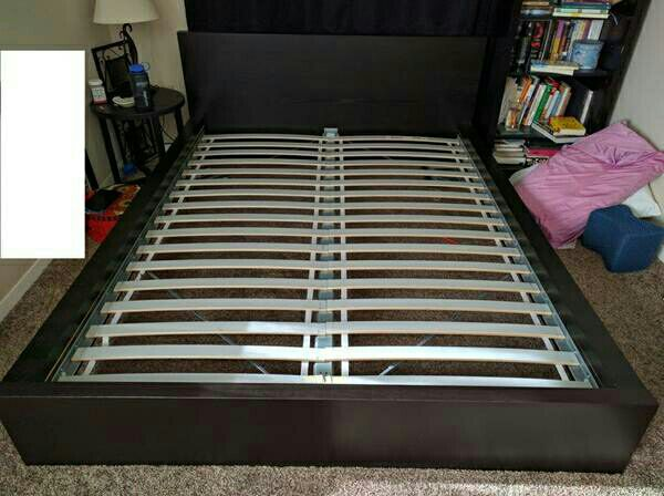 Very nice queen ikea malm bed frame with pillowtop for Ikea bellevue washington