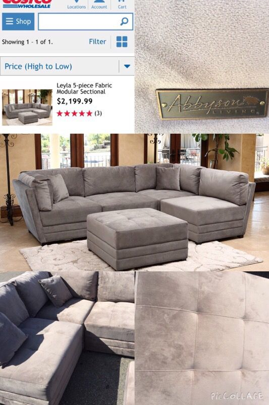 New Abbyson Living Leyla 5 Piece Fabric Modular Sectional Furniture In Denver Co Offerup