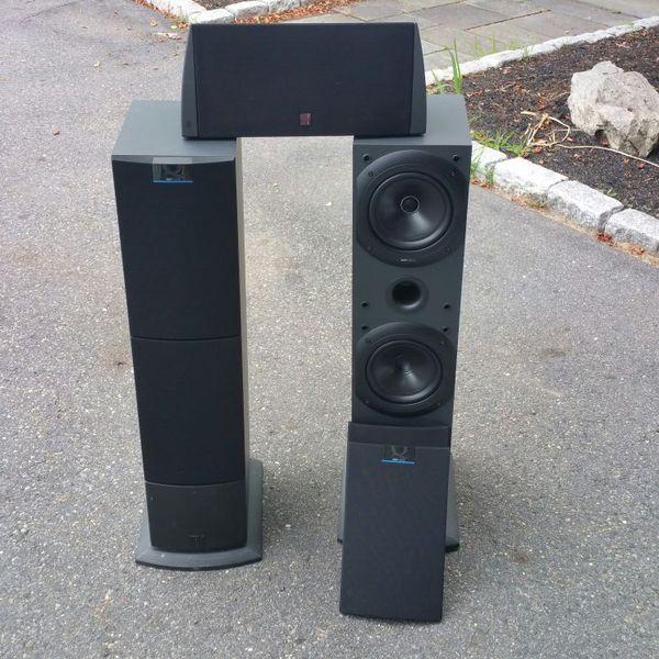 kef tower speakers. kef tower speakers and center channel speaker kef c