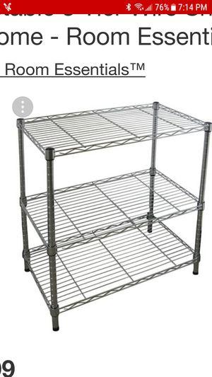 Three shelf stand for kitchens