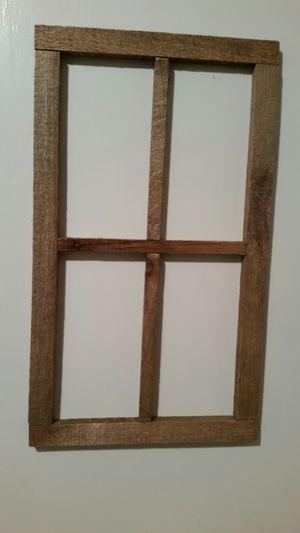 Wooden decorative window