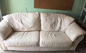 *FREE* White leather sofa