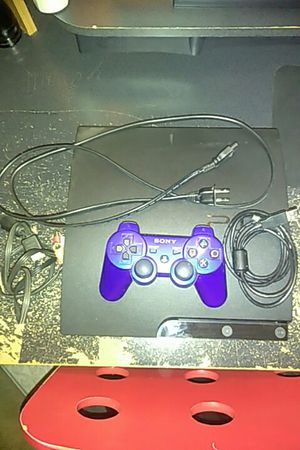 PS3 slim 500gb with wires and controller and the controls charger $100