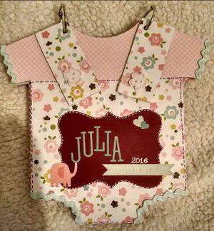 Handmade baby album