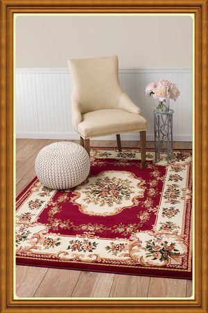 Brand new traditional design area rug size 5x8 nice red carpet rugs and carpets