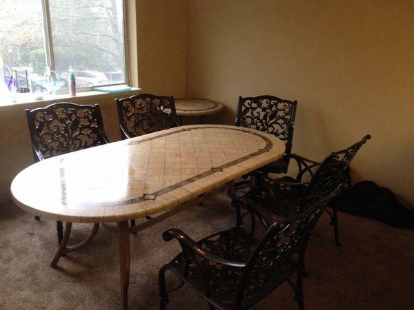Marble table outside furniture electronics in auburn wa for Furniture auburn wa