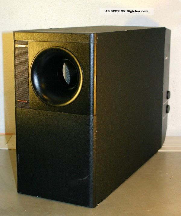 how to connect bose acoustimass subwoofer