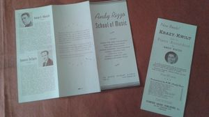 Antique Andy Rizzo School of Music Brochure and Advertisement