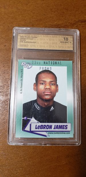Lebron James Rookie Review card