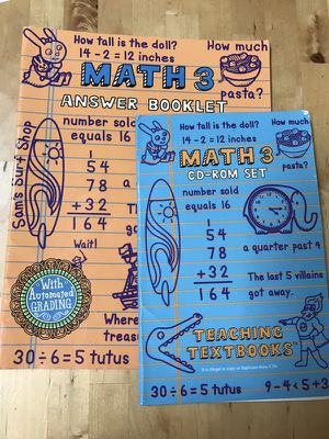 Teaching Textbooks Math 3 dvds and answer booklet. Homeschool curricula