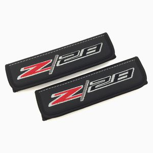 Chevy Camaro Z 28 seat belt covers shoulder pads Interior accessories with emblem