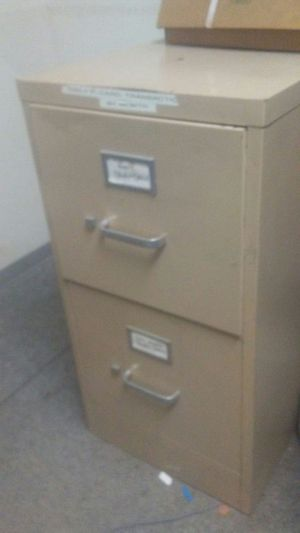 2 drawer filing cabinets.