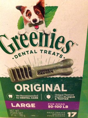 Greenies for large dogs sealed brand new 17 in box