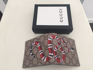 Gucci Wallet Snake Embroidered Canvas supreme
