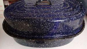 Large Speckled Metal Roaster