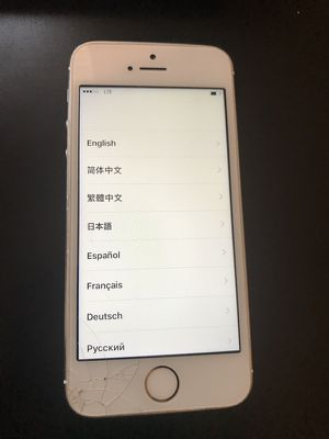 Apple iPhone 5s 16gb unlocked for parts or fixing