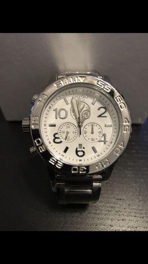 Nixon Chrono 42-20 Watch High Polish White Silver A037-945