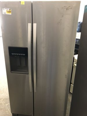 36by69 new whirlpool side by side fridge stainless steel with warranty