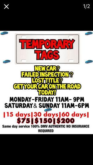 Temp Tags