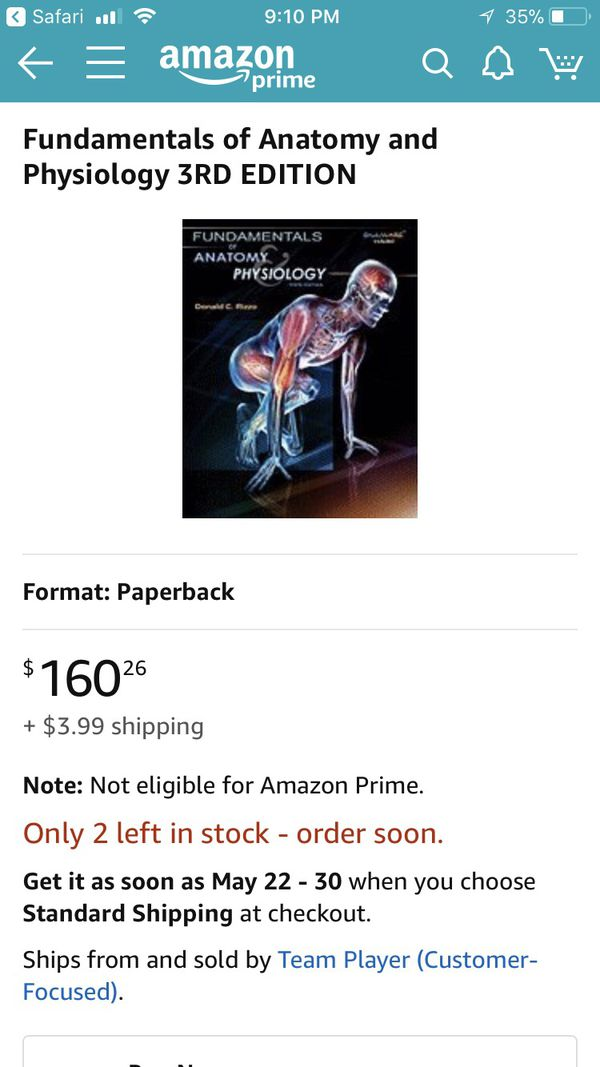 Moderno Fundamentals Of Anatomy And Physiology 3rd Edition Colección ...