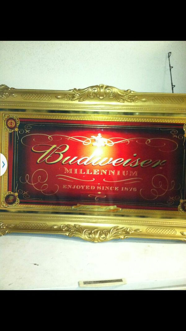Budweiser millennium frame asking for $ 750 obo never used it ...