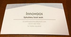 Upholstery boat services