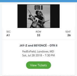 Beyonce concert tickets @Fedex Field - Floor Seats